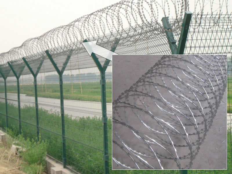 Galvanized Steel Concertina Barbed Wire