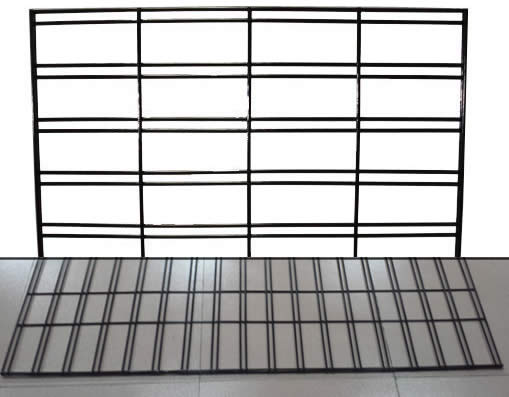 Vinyl Or Chrome Plated Welded Wire Gridwall Panels For
