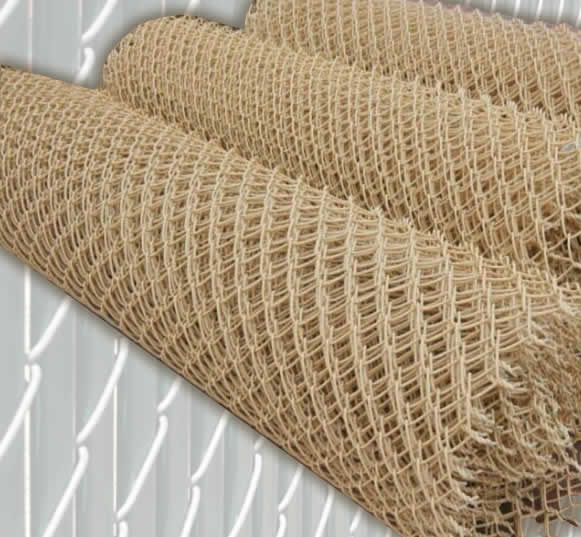 Beige Color PVC Coated Galvanized Fence