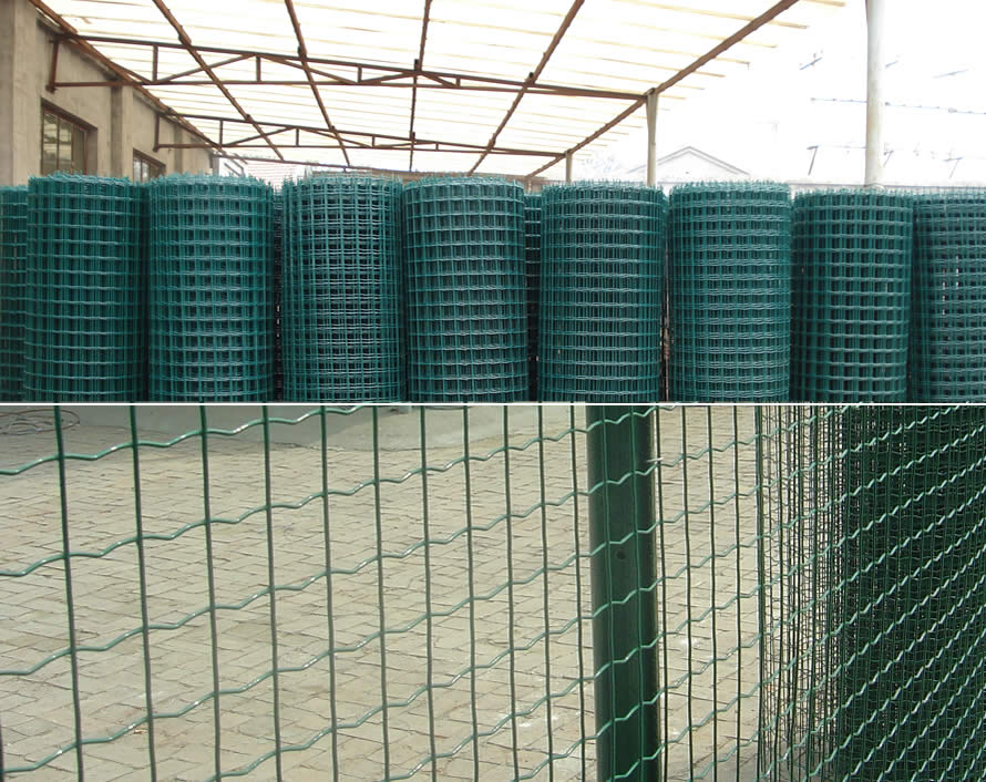 Green Powder Coated Euro Fence Holland Fence Garden Fence