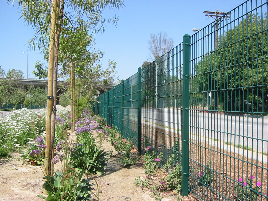 Green Color Perimeter Fence for Residence Security